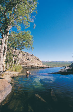 Rockpool at Gunlom Falls in Kakadu National Park - photo courtesy of NT Tourism